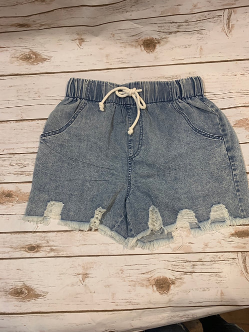 Blue Jean Draw String Shorts