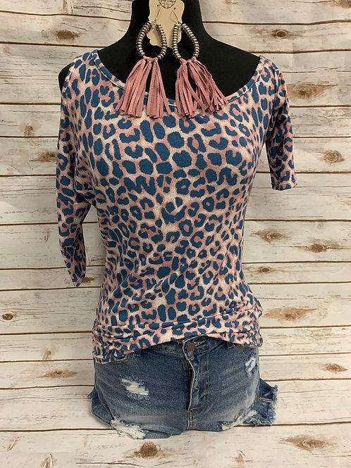 Pink and Blue Leopard-Open hole shoulder