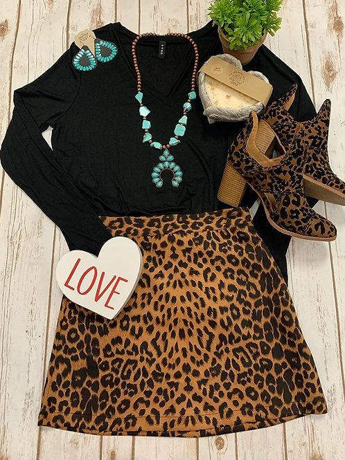 Cheetah Skirt with a Zipper
