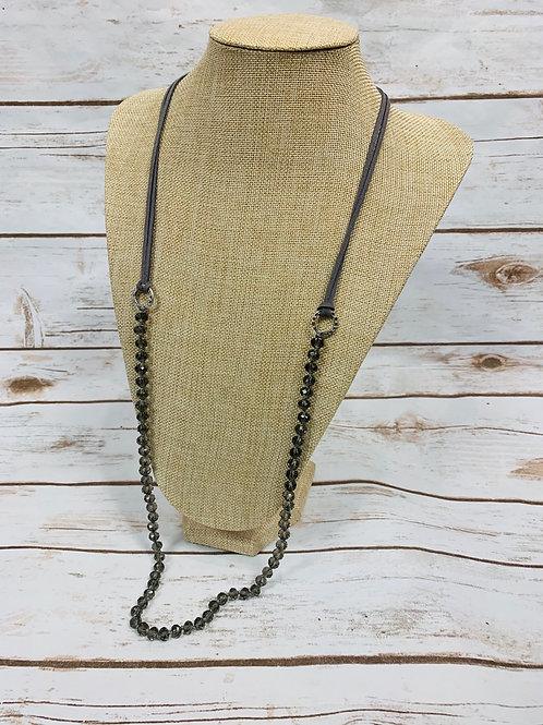 Leather with Beads Necklace