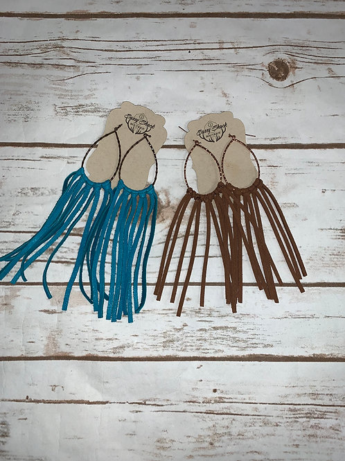Oval Fringe Earrings