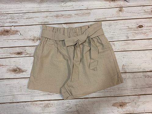 Linen Tie Shorts