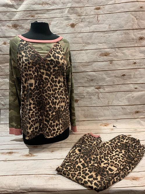 Leopard/Camo PJ set