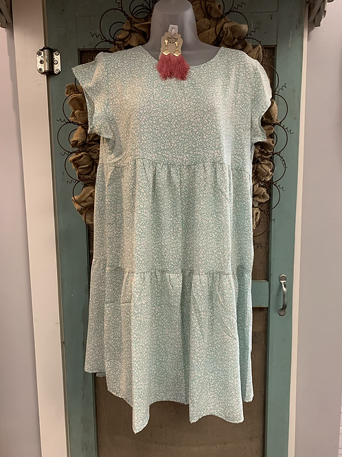 Mint Floral Baby Doll
