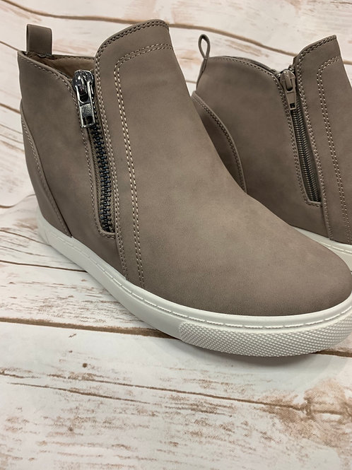 Taupe Hightop Wedge