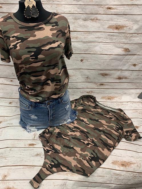 Camo Bodysuit - Short Sleeve