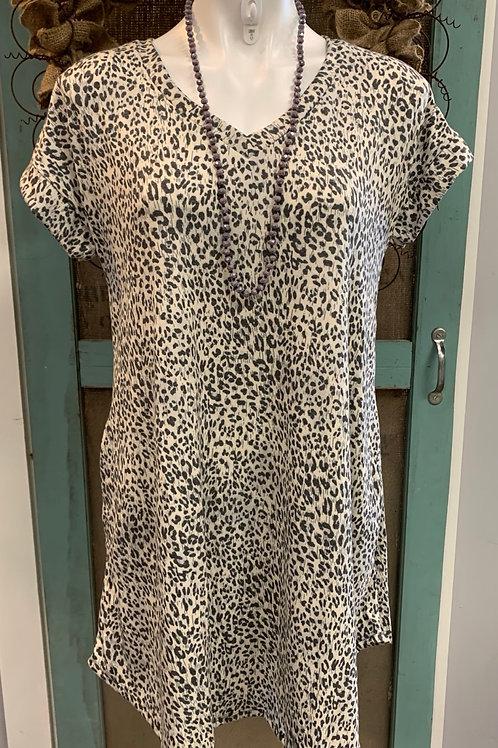 Leopard V-neck dress