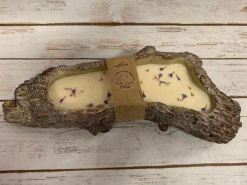 Refillable Large Log Candle
