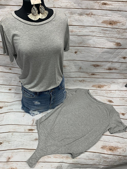 Grey Bodysuit - Short Sleeve
