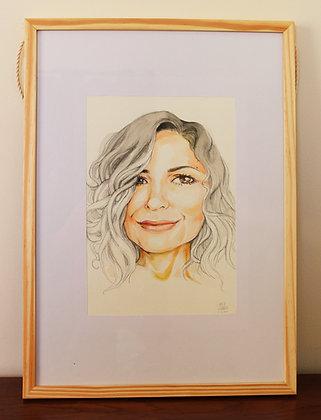 Retrato em aquarela (encomenda)