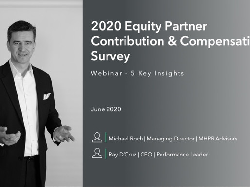 Webinar - 5 Key Insights from the 2020 Partner Compensation survey