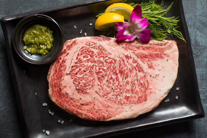[Yakiniku] Japanese A5 Miyazaki Wagyu Beef, Ribeye Steak