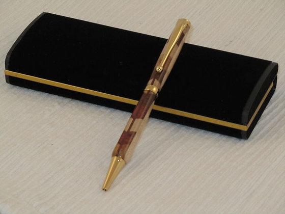 Signature 7, Five Wood Laminate, Gold Hardware