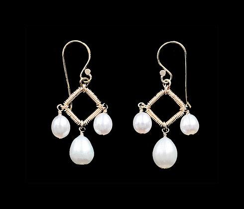 Deco Earrings - 14k Gold Fill