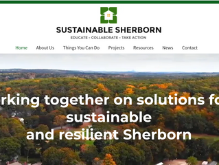 Congratulations to Sustainable Sherborn on your new website!