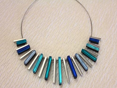 Modern Blue Necklace