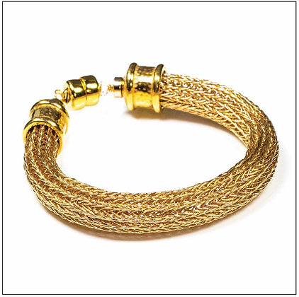Viking Knit Wide Bracelet - 14K Gold Fill