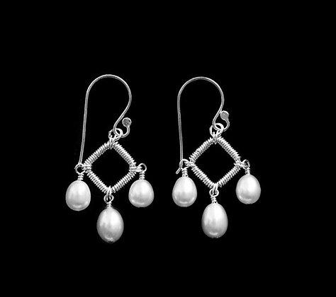 Deco Earrings - Sterling Silver