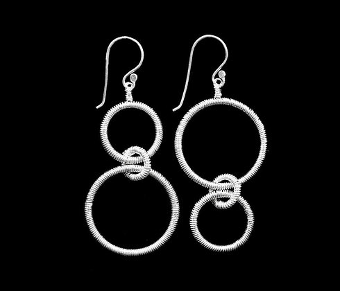 Roundabout Earrings -Sterling Silver