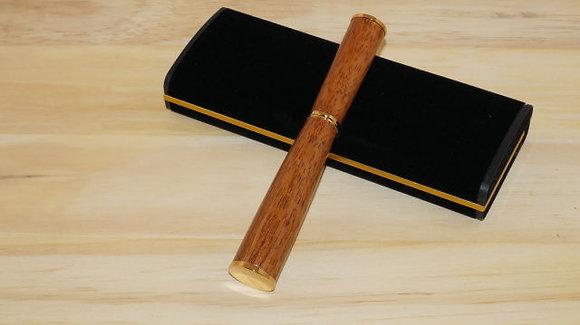 Gropius, Mahogany Wood, Gold Hardware