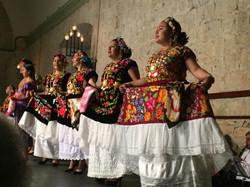 oaxaca row of dancers