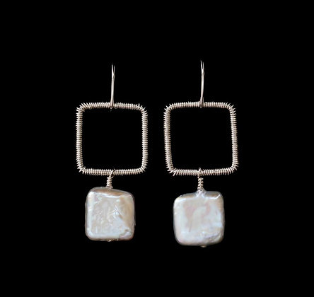 Square Spot - Sterling Silver
