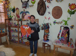 Fuentes Silvia in her shop
