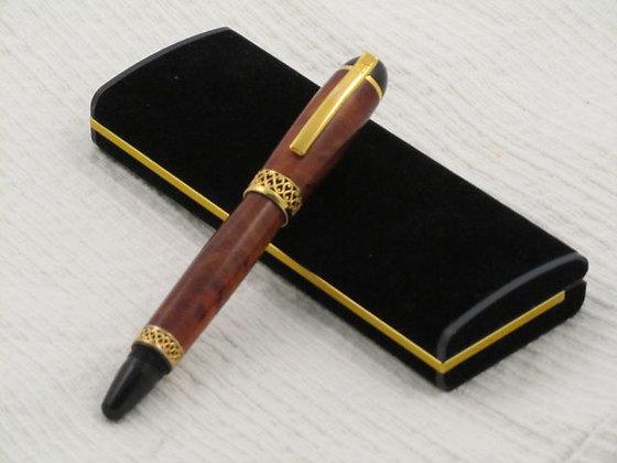 Zeus, Thuya Burl Wood, Gold Titanium Hardware