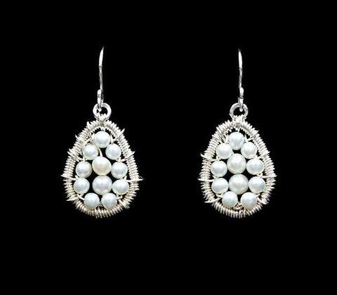 Petal Earrings - Sterling Silver