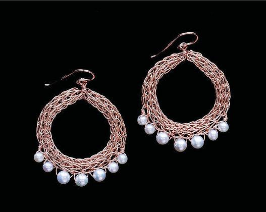 Fancy Fringe Earrings - 14k Rose Gold Fill