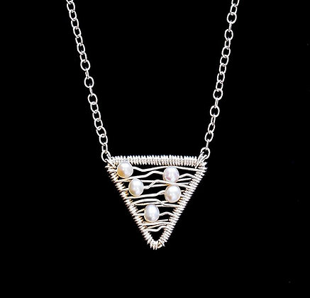 Weft Necklace - Sterling Silver