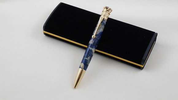 Marquis, Blue Box Elder, Gold and Black Hardware