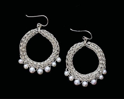Fancy Fringe Earrings - Sterling Silver