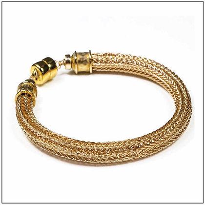 Viking Knit Narrow Bracelet - 14K Gold Fill