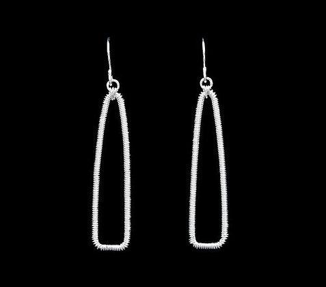 Pointe Earrings - Sterling Silver