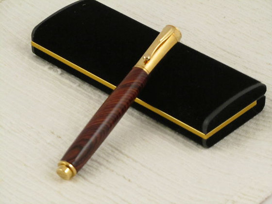 Zazen, Cocobolo, Gold Hardware, Magnetic Closure