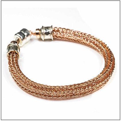 Viking Knit Narrow Bracelet - 14K Rose Gold Fill