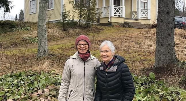 Kirsti and Janey at Karkku