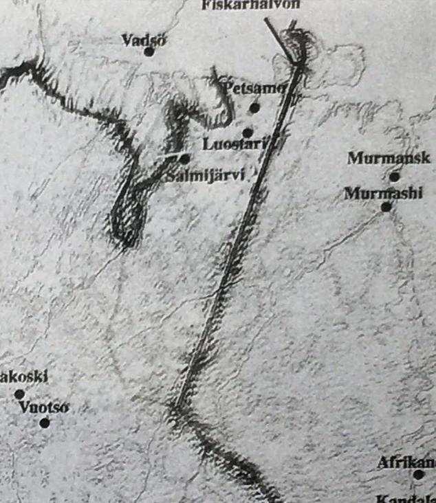 Fighter's Map of Petsamo Region