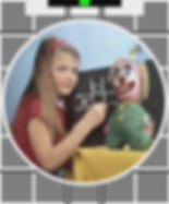 This creepy image is the Test Card from the BBC in the1960s.  It scarred me for life.