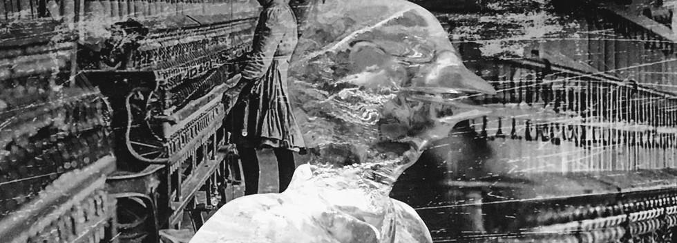 Bird Woman in Ice