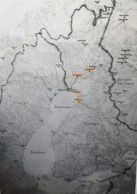 Fighter's Map of Winter War
