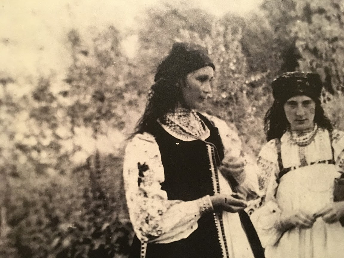Natalia Gonchorova in Peasant Dress, Age 26