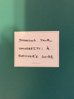 Divorcing Your University