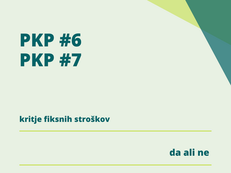 PKP7 - kritje fiksnih stroškov