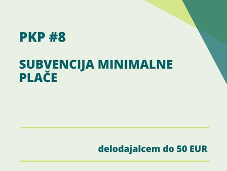 PKP 8 - subvencija minimalne plače