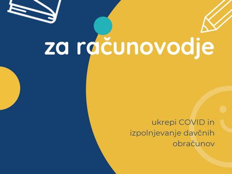 Covid ukrepi in izpolnjevanje davčnih obračunov