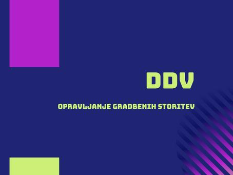 Gradbene storitve - kje plačam DDV?