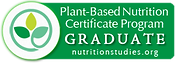 Plant Based Nutrition Certificate Program Graduate