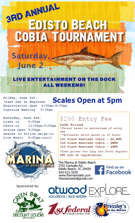 The Marina At Edisto Beach Cobia Tournament